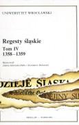 Regesty śląskie, tom IV (1358–1359)